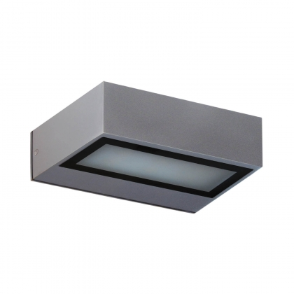 APLIQUE EXTERIOR LED COLORADO 8W 4000K PLATA