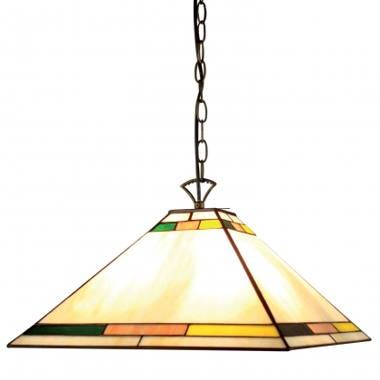 SUSPENSION 3 LUMIERES DESIGNS TIFFANY