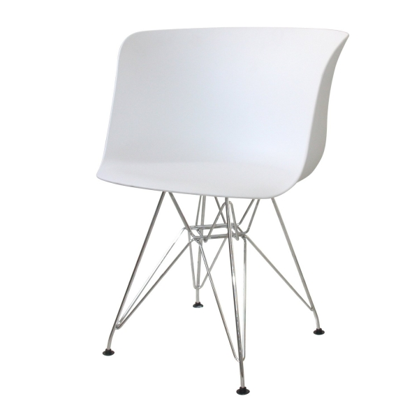 SILLÓN NORDIC WOOD CHROME BLANCO