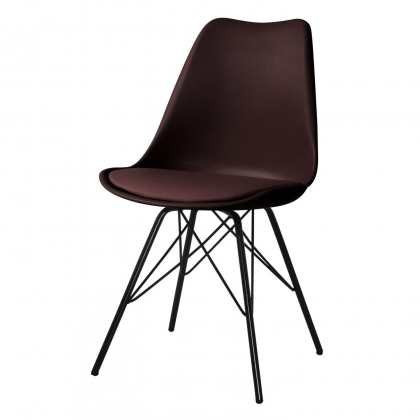 SILLA TOWER METALIC CHOCOLATE-NEGRA