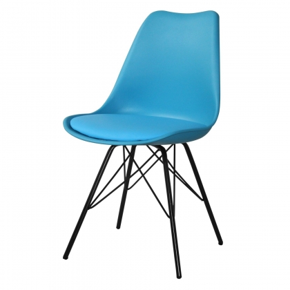 SILLA TOWER METALIC AZUL-NEGRA