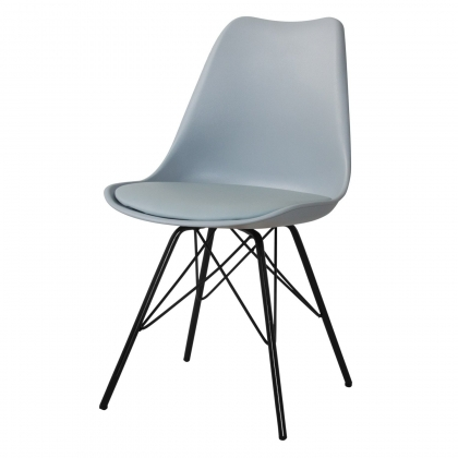 SILLA TOWER METALIC GRIS-NEGRO