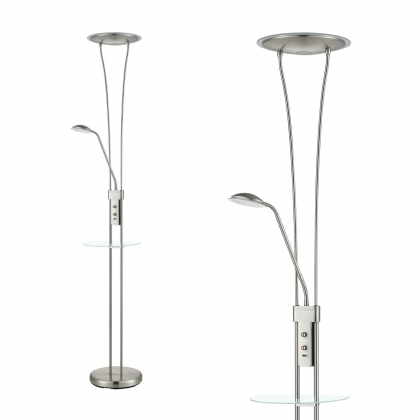 LAMPADAIRE LED ARTEMIS 18W+5W 3000K USB NICKEL
