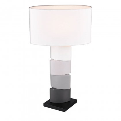 LAMPE DE TABLE CARTER CÉRAMIQUE BLANC 60CM