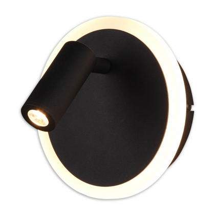 APLIQUE DE PARED CATRIEL LED 5W+2W 3000K NEGRO