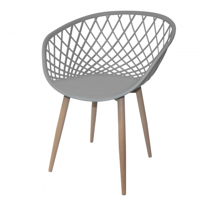 CHAISE PICKELS GRIS