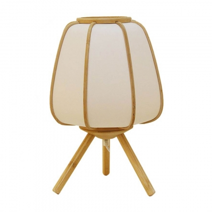LAMPE DE TABLE SHIRO BAMBOU NATUREL POLYESTER E27