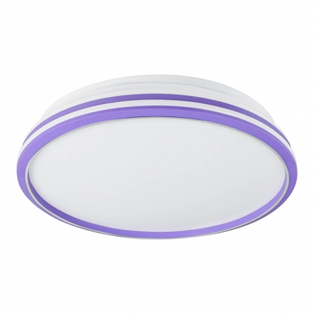 PLAFÓN LED PLANET BLANCO-LILA