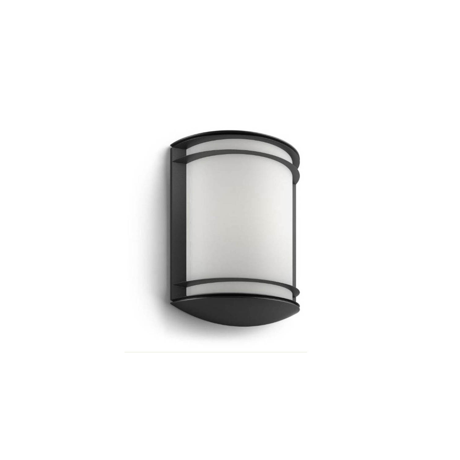 Aplique de pared exterior antelope negro aplique for Apliques de pared exterior led