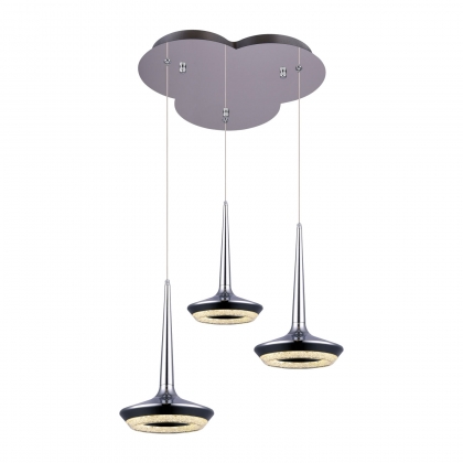 SUSPENSION LED 3 LUMIERES CHANTAL 27W CHROME