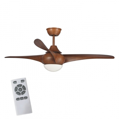 VENTILATEUR DE PLAFOND LED PARRISH MARRON