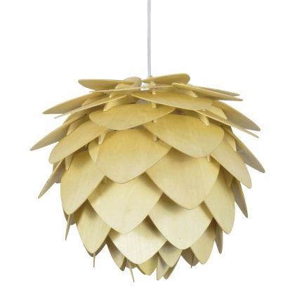 SUSPENSION BIRGITTA EN BOIS NATUREL