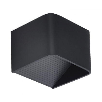 APLIQUE LED CUBE NEGRO